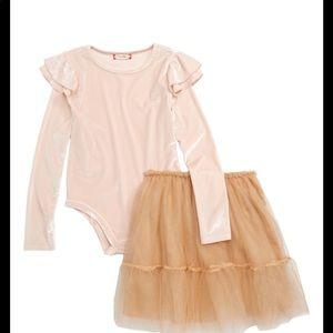 Ruby & bloom velvet leotard and tulle skirt